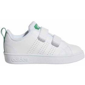 adidas アディダス VALCLEAN2 CMF IMF(ランニングホワイト/グリーン)(ランニングホワイト×15.0cm)【クリアランス】【送料無料】