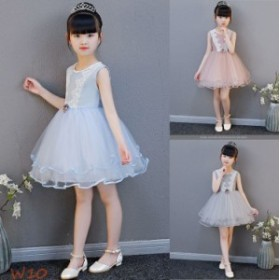 b5829b8757b8a 子供ドレス ワンピース レース 結婚式 キッズドレス 女の子 子供服 チュールワンピース フォーマル ピアノ発表