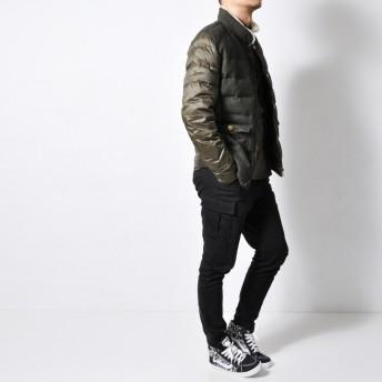 ダウンジャケット・ダウンコート - RAiseNsE ウール ダウンジャケット メンズ アウター 袖素材切り替え 羽毛 軽量 保温 防寒 [2色]#T987