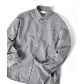 シップス SHIPS JET BLUE: ソリッド ボタンダウンネルシャツ メンズ グレー X-SMALL 【SHIPS】