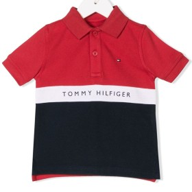 Tommy Hilfiger Junior カラーブロック ポロシャツ - レッド