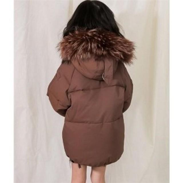 ee6509dadf603 ダウンコート子ども子供服ロングコート男の子女の子ダウンジャケットアウターフード付きジュニア防寒