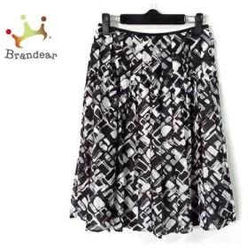 ニジュウサンク 23区 スカート サイズ36 S レディース 黒×白×グレー プリーツ               スペシャル特価 20191029