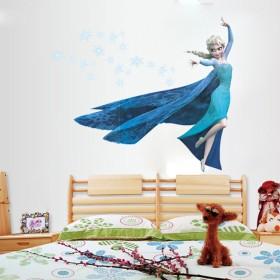 ★W057アナと雪の女王!\★大人気!賃貸OKで剥がせるウォールステッカー・壁紙!/!お部屋の模様替え時やインテリア装飾に最適!