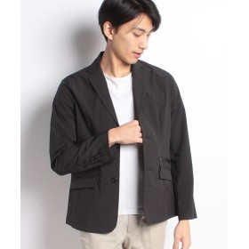 LiFESiZE ストレッチナイロン テーラードジャケット メンズ ブラック XL 【LiFESiZE】