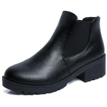 ブーティー - Miniministore ショートブーツ レディース 内ボア ブーティ サイドゴア ローヒール ブーツ 歩きやすい