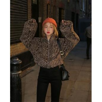 2018新柄追加 韓国ファッション CHIC気質 短いスタイル レオパード コート