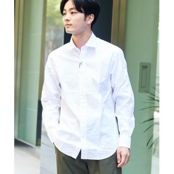 トゥモローランド ブリティッシュポプリン セミワイドカラーシャツ メンズ 11ホワイト S 【TOMORROWLAND】