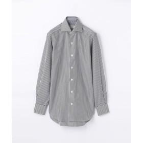 トゥモローランド 140/2コットンブロード ワイドカラー ドレスシャツ NEW WIDE 5 メンズ グレー系 38 【TOMORROWLAND】
