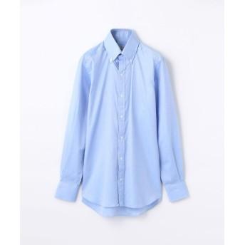 トゥモローランド 140/2コットンロイヤルオックスフォード ボタンダウン ドレスシャツ NEW BD 4 メンズ ブルー 39 【TOMORROWLAND】