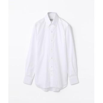 トゥモローランド 140/2コットンロイヤルオックスフォード ボタンダウン ドレスシャツ NEW BD 4 メンズ ホワイト 37 【TOMORROWLAND】