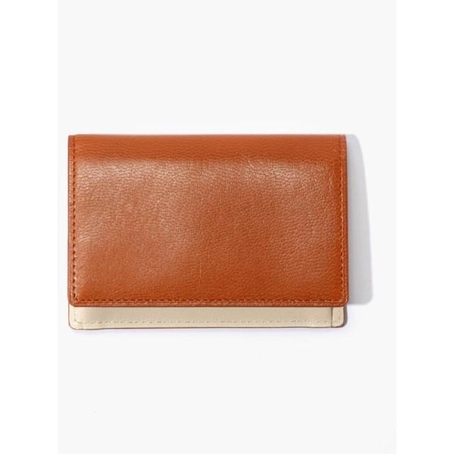 トゥモローランド glazing goatskin / card カードケース メンズ ライトブラウン F 【TOMORROWLAND】