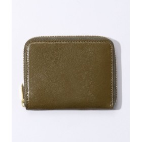 トゥモローランド glazing goatskin / coin コインケース メンズ オリーブ F 【TOMORROWLAND】