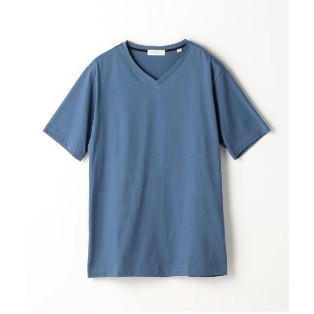 トゥモローランド スヴィンジャージー VネックTシャツ メンズ 65ブルー XS 【TOMORROWLAND】