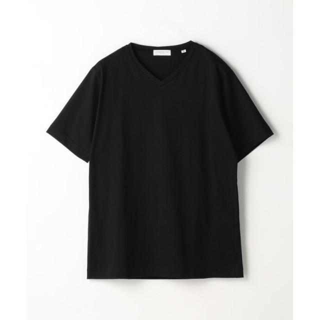 トゥモローランド スヴィンジャージー VネックTシャツ メンズ 19ブラック XS 【TOMORROWLAND】
