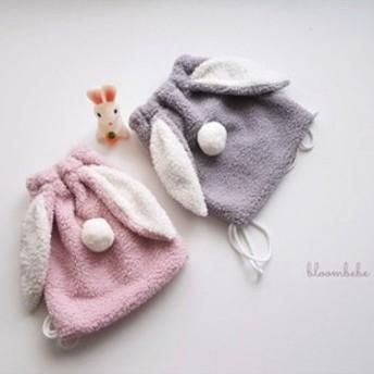 韓国子供服 ベビー キッズ モコモコうさぎリュック ベビーリュック kz1811143