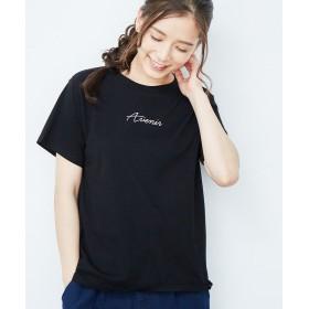 【10%OFF】 ロペピクニック ロゴプリントTシャツ レディース ブラック(01) 38 【ROPE' PICNIC】 【タイムセール開催中】