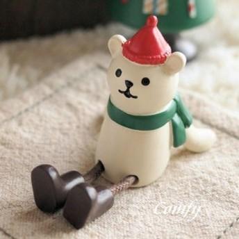 デコレ コンコンブル まったりマスコット クリスマス雑貨 リラックス 白クマ S