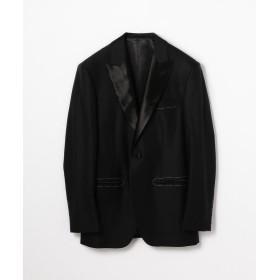 トゥモローランド Super150'sウールドスキン ピークドラペルタキシードジャケット メンズ 19ブラック 44 【TOMORROWLAND】