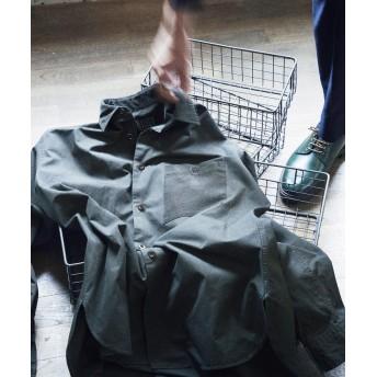 トゥモローランド ブロークンツイル×コーデュロイ レギュラーカラーシャツ メンズ 59ダークグリーン XS 【TOMORROWLAND】