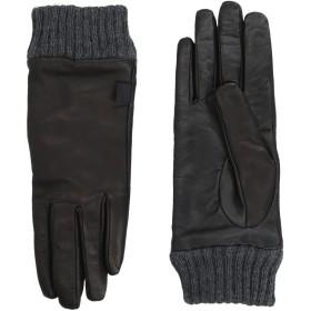 《送料無料》DIESEL メンズ 手袋 ブラック I 羊革(ラムスキン) 100% / アクリル
