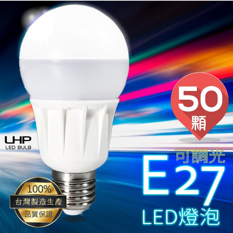 【100%台灣製造】LED燈泡 E27 50顆入 燈具/照明工具/燈光/吊燈/省電燈泡/節能燈/白光/居家/公司/工作室