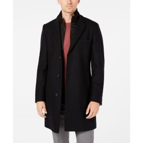 ヒューゴ ボス Hugo Boss メンズ コート アウター Milogan Slim-Fit Overcoat with Removable Bib Navy