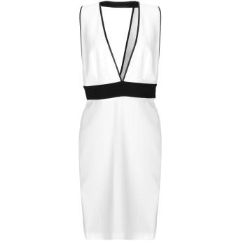 《セール開催中》PIANURASTUDIO レディース ミニワンピース&ドレス ホワイト 46 レーヨン 95% / ポリウレタン 5%