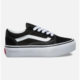 ヴァンズ スニーカー シューズ 靴 キッズ 女の子【VANS Old Skool Platform Black & True White Kids Shoes】 BLA