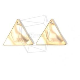 PDT-1581-MG【2個入り】トライアングルペンダント,Wavy Triangle Pendant