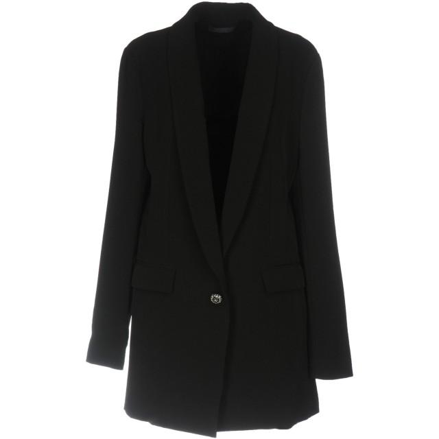 《期間限定セール開催中!》TWIN-SET JEANS レディース テーラードジャケット ブラック XL ポリエステル 95% / ポリウレタン 5%