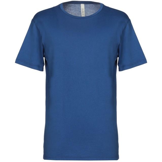 《期間限定セール開催中!》DONVICH メンズ T シャツ ブルー L コットン 100%
