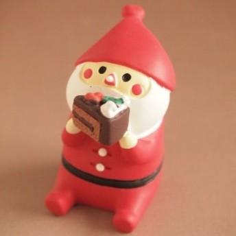 デコレ コンコンブル まったりマスコット クリスマス雑貨 冬太りサンタ むしゃむしゃケーキ