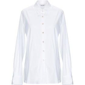 《期間限定セール開催中!》CALIBAN レディース シャツ ホワイト 48 コットン 97% / ポリウレタン 3%