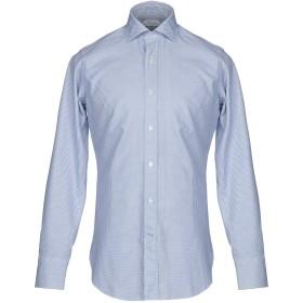 《9/20まで! 限定セール開催中》GUGLIELMINOTTI メンズ シャツ ブルー 40 コットン 100%