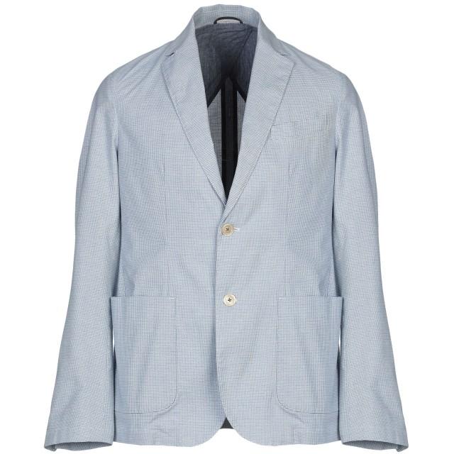 《期間限定セール開催中!》BROOKSFIELD メンズ テーラードジャケット スカイブルー 48 コットン 97% / ポリウレタン 3%