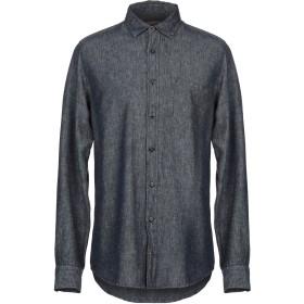 《期間限定セール開催中!》VINTAGE 55 メンズ デニムシャツ ブルー S 麻 55% / レーヨン 45%