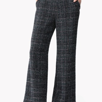 【Theory】Sparkle Tweed Clean Wide Leg Pant