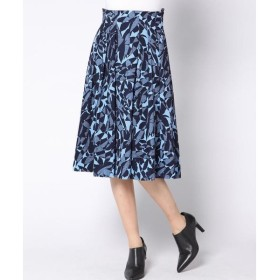 Viaggio Blu / ビアッジョブルー バックサテン起毛フラワースカート