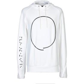 《期間限定セール中》TOM REBL メンズ スウェットシャツ ホワイト S コットン 100%