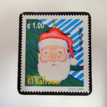 エルサドバドル クリスマス切手ブローチ 4375