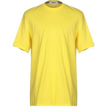 《9/20まで! 限定セール開催中》MSGM メンズ T シャツ イエロー XS コットン 100%