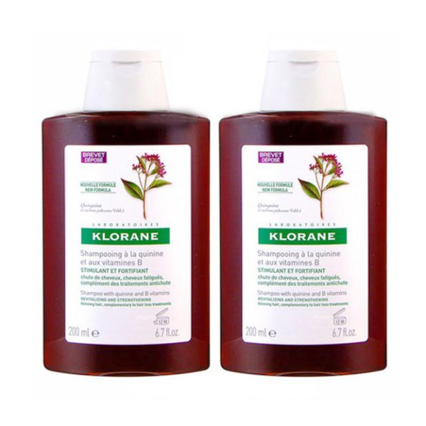 KLORANE 蔻蘿蘭 養髮洗髮精200ml x2
