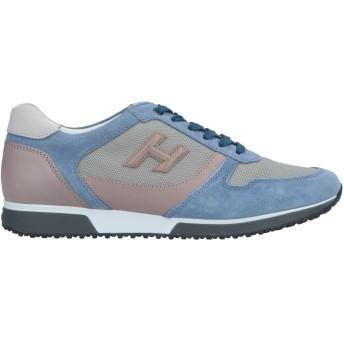 《セール開催中》HOGAN メンズ スニーカー&テニスシューズ(ローカット) ブルーグレー 7.5 革 / 紡績繊維