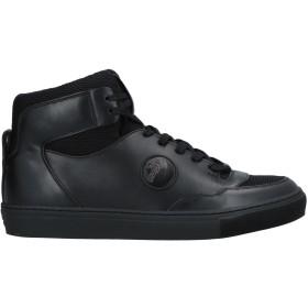 《セール開催中》VERSACE COLLECTION メンズ スニーカー&テニスシューズ(ハイカット) ブラック 39 革 / 紡績繊維