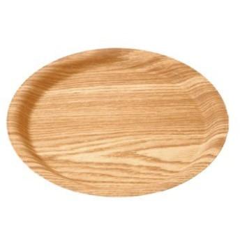 トレイ 木目調 木目樹脂ラウンドトレイ (小) ナチュラル