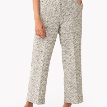 【Theory】Bamboo Tweed Cropped HW Trouser