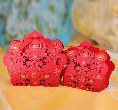 【婚禮回禮贈品-喜糖盒子-小號9.5x7.5x2.8CM-200個-組】結婚喜糖盒子婚慶婚禮用品-726001
