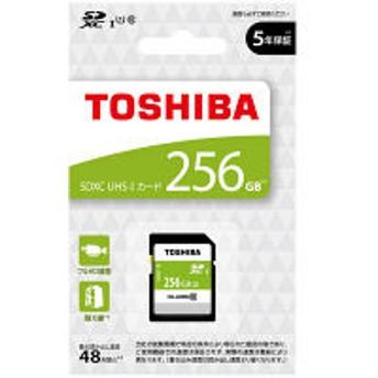 東芝 SDXC UHSーI メモリカード 256GB SDBR48N256G 1個(直送品)