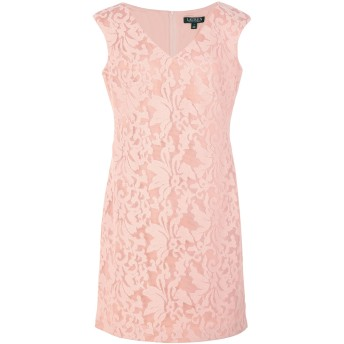《セール開催中》LAUREN RALPH LAUREN レディース ミニワンピース&ドレス ローズピンク 0 ポリエステル 100% Embroidered Neoprene Day Dress